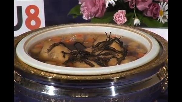 これぞ、幻の「冬虫夏草」のスープだ!!