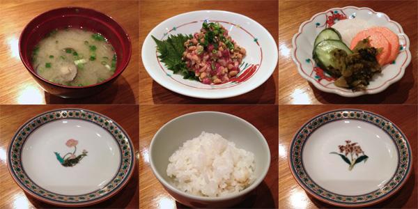 基本は、和食。