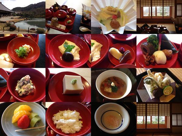 京都天龍寺の精進料理と嵯峨野の竹林