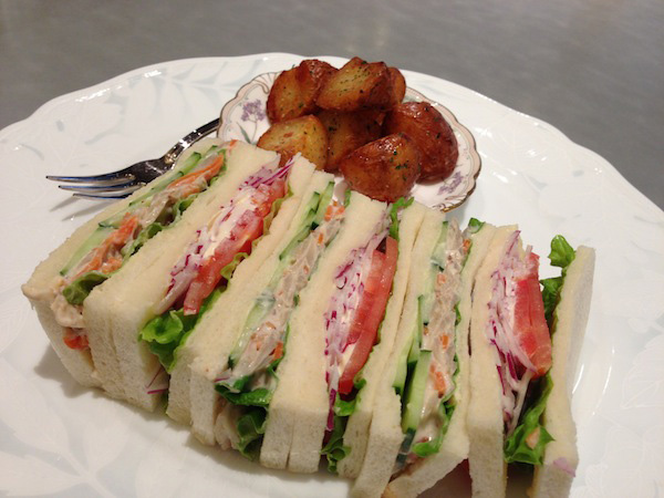 たまには、特製野菜サンドイッチ!