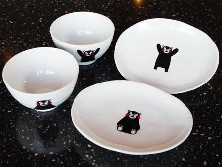 岬ちゃんショップに「くまモン」のお皿と茶碗が登場!!